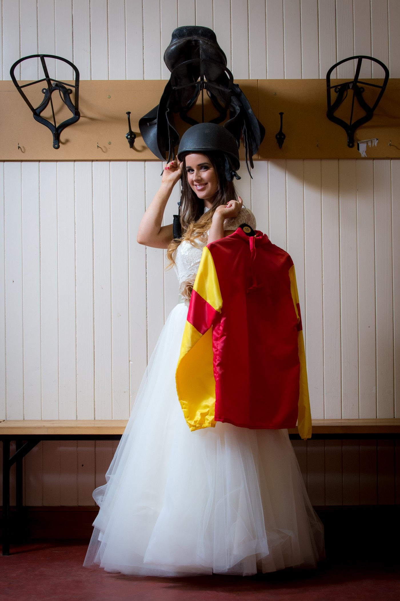 Bride in the Jockeys rooms