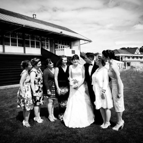 B&W Jackson bridesmaids & bride
