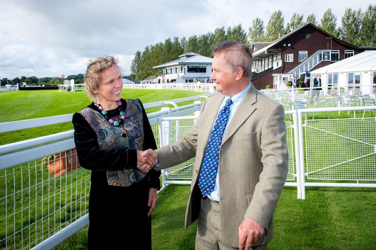 Sam Morshead welcoming Hazel Peplinski, new General Manager to Perth Racecourse